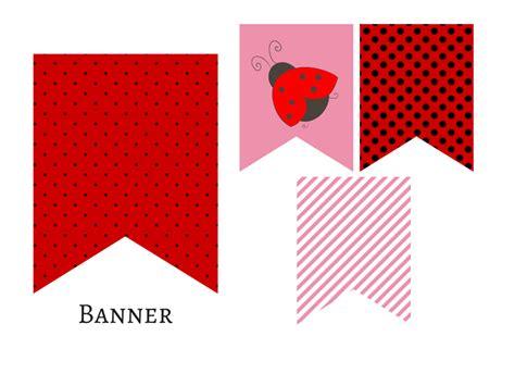 printable ladybug birthday banner red pink ladybug banner magical printable