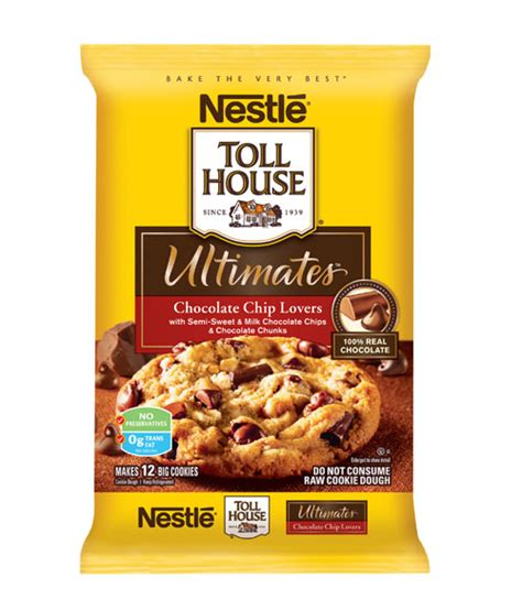 nestle toll house cookie dough nestl 233 toll house ultimates chocolate chip lovers cookie