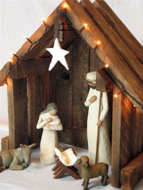 diy nativity nativity creche stable reclaimed barnwood for willow