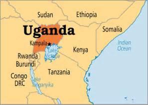 where is uganda on the world map uganda operation world