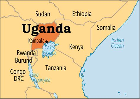 africa map uganda uganda africa tourist destinations