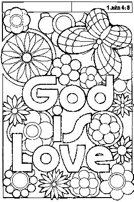 Ascending And Descending Quot God Is Love God Is Coloring Page