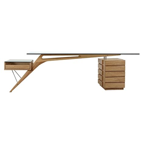 wood desk with glass top modern wood writing desk glass top writing desk