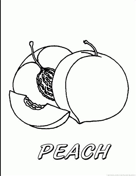 printable coloring pages peach printable best free