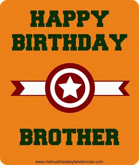 imagenes de cumpleaños hermano mayor manualidades y tendencias tarjeta de cumplea 241 os para mi