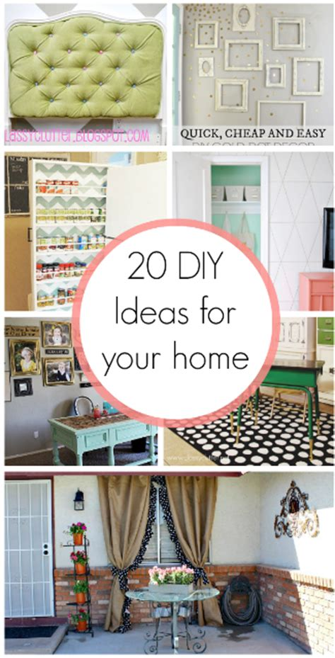 diy decorations list 20 diy home decor ideas these ideas are rocking my world my homes to do list just got bigger