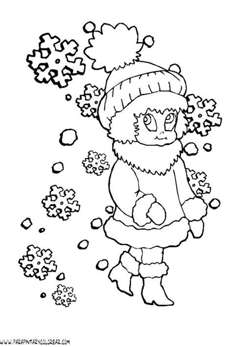 imagenes invierno colorear de invierno para dibujar imagui