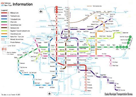 osaka japan map osaka underground map