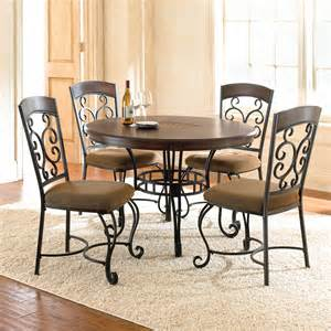 Metal Dining Room Set by Steve Silver Greco 5 Piece Dining Room Set In Cherry W