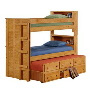Solid Wood Bunk Bed With Trundle Wooden Bunk Beds Solid Wood Bookcase Bunk Bed Trundle 3905t Pc Nationalfurnishing