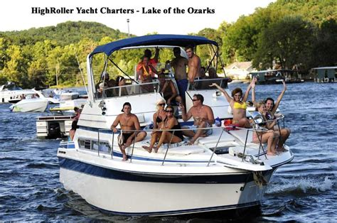 lake of ozarks boat rental close to party cove enjoy lake of the ozarks with highroller yacht boat
