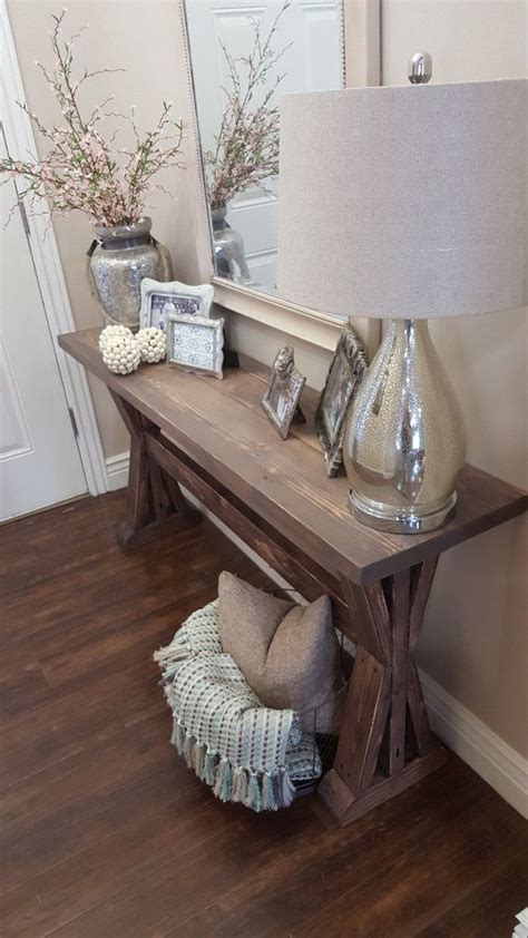 decorations for living room tables rustic farmhouse entryway table by modernrefinement on
