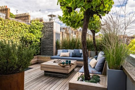 Roof Garden Ideas Small Roof Garden With Decking Garden Design Ideas Houseandgarden Co Uk