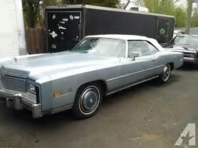 1975 Cadillac Eldorado For Sale 1975 Cadillac Eldorado Convertible Surviver For Sale In
