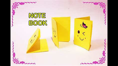 music eighth note origami video instructions youtube diy how to make a mini origami note book mini diary