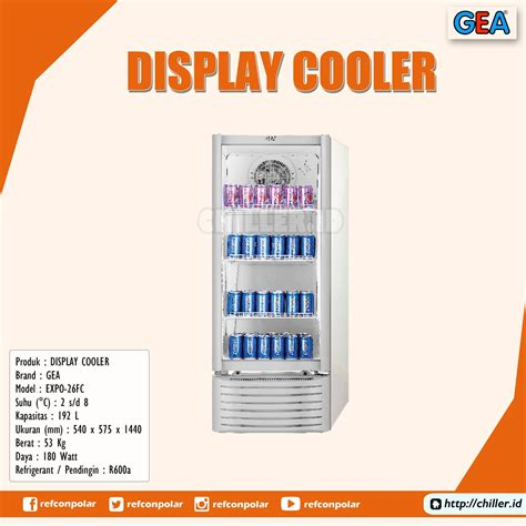 Showcase Gea Expo 1500ah jual expo 26fc display cooler brand gea harga murah di