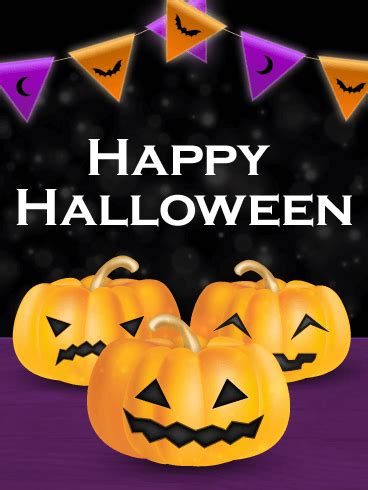 party time happy halloween card birthday greeting cards  davia