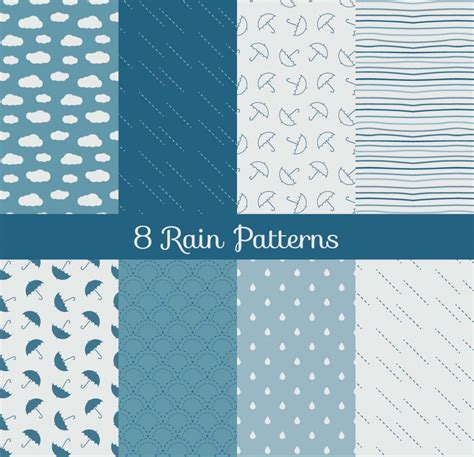 cute pattern set rain patterns cute set vector free download