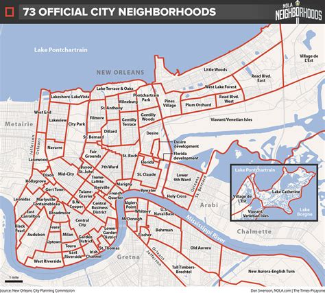 map new orleans the 73 official new orleans neighborhoods why they exist and why they shouldn t nola