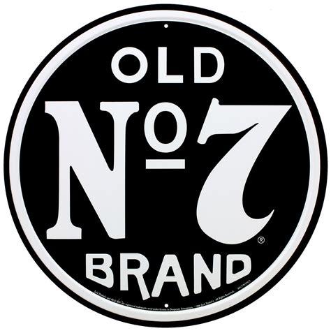 Denils No7 no 7 brand blechschild rund schwarz 28x28cm ebay