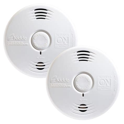 10 Year Smoke And Carbon Monoxide Detector - kidde pack worry free 10 year combination smoke and