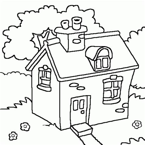 a pretty little house free kids coloring to print