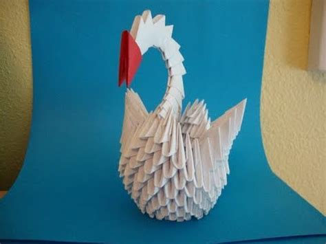 How To Make A 3d Swan Out Of Paper - how to make a 3d origami swan