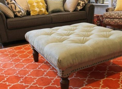 How To Make Tufted Ottoman This Diy Tufted Ottoman Only Looks Like It Came From Restoration Hardware Photo Huffpost