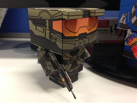 Master Chief Papercraft - master chief spartan 117 cubeecraft by
