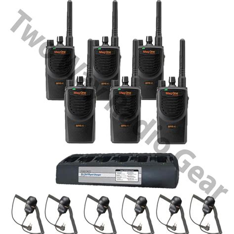 Bpr40 Bundle With Endura Multi Unit Charger And 6 Speaker Mics