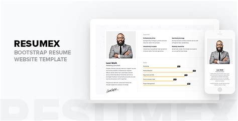 Resumex Bootstrap Resume Website Template Tfx Fxtheme Bootstrap Resume Template