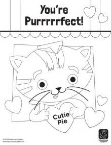 quot you re purrrrrfect quot valentine s day coloring pages by