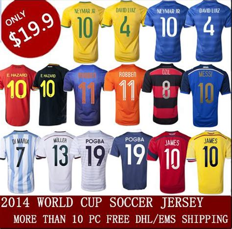 Jersey Og Player 2016 2017 2014 world cup soccer jersey neymar jr 10 david