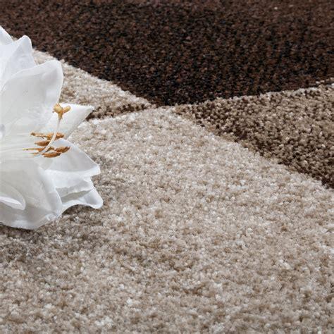 kurzflor teppich beige designer teppich modern geometrische muster kurzflor braun