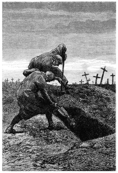 Grave Digging – Old Book Illustrations