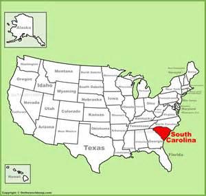 us map states carolina south carolina location on the u s map