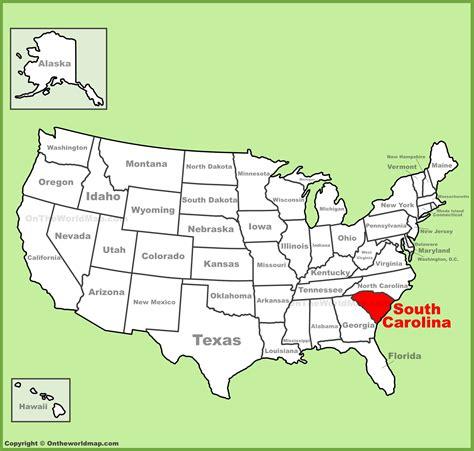 south carolina location on the u s map