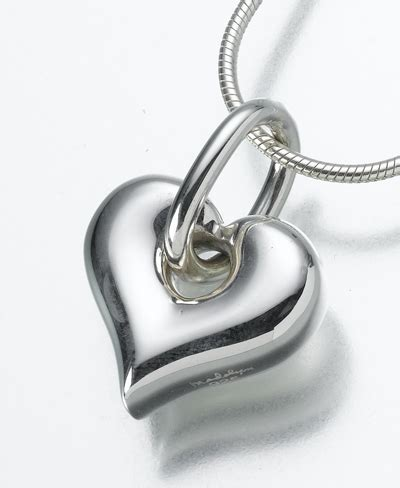 cremation urn jewelry heart pendant