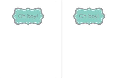 free printable baby shower invitations for boys template