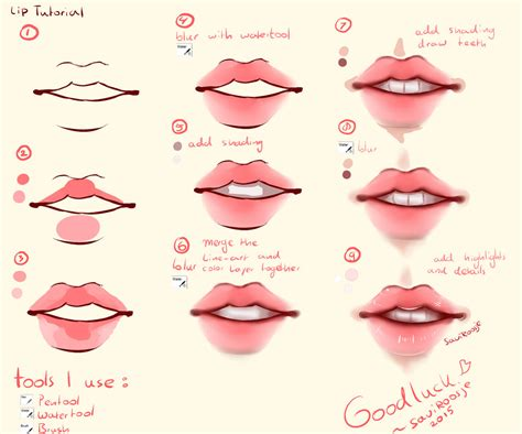 watercolor lips tutorial step by step lip tutorial by saviroosje on deviantart