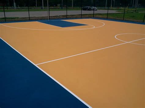 Basketball Court In Backyard Cost Basketball Court Surfaces Construction And Painting