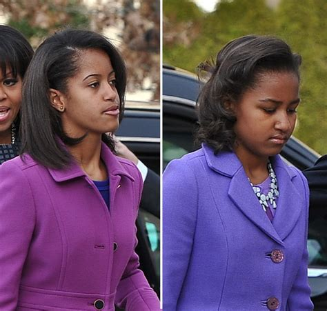 how long is malia obama hair sasha malia obama s hair at the inauguration hollywood