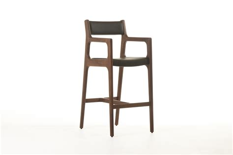 Bar Stool With Arms And Back Brown Iron Bar Stool With Arm And Grey Leather Back And Seat Cover Of Modern Design Of Bar