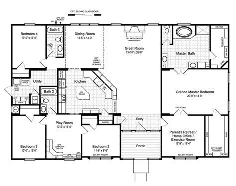 open home plans best ideas about bedroom house plans country and 4 open