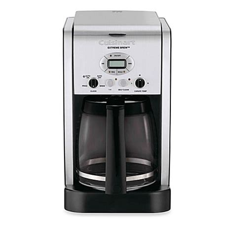 cuisinart coffee maker bed bath and beyond buy cuisinart 174 extreme brew 12 cup programmable coffee