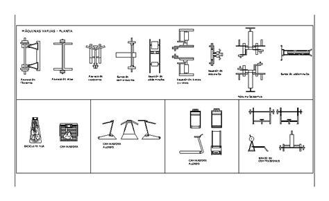 fitness equipment furniture  autocad cad  kb