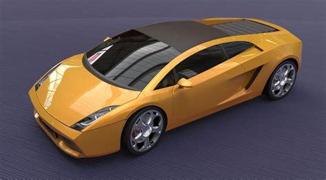Lamborghini 3d Model Free by Lamborghini Gallardo 2005 Free 3d Model Obj 3ds Fbx Stl