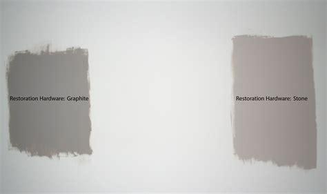restoration hardware slate paint match vs graphite