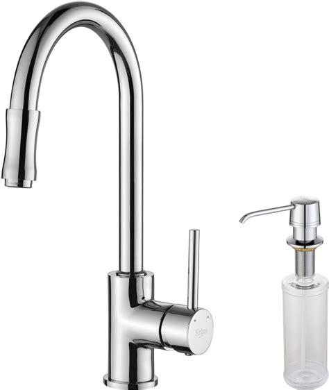 kitchen faucet gpm kraus kpf1622ksd30ch single lever cast spout kitchen