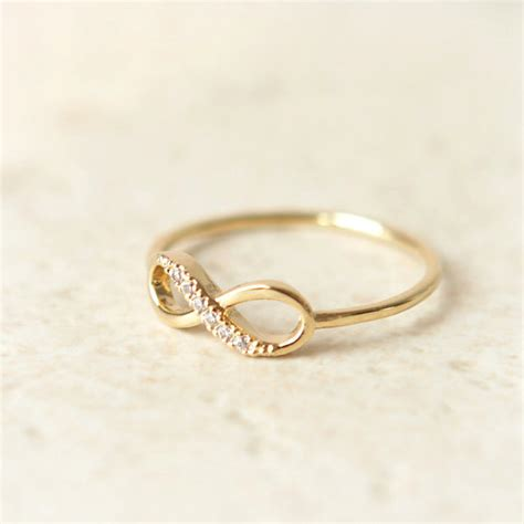 infinity ring infinity ring in gold by laonato on etsy